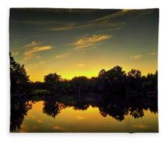 A Northeast Texas Sunset Fleece Blanket