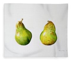 A Pair Of Pears Fleece Blanket