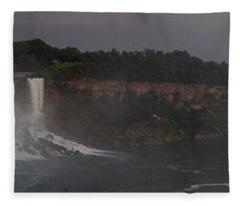 A Panoramic View Of Niagara Falls Fleece Blanket