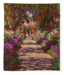 A Pathway In Monets Garden Giverny Fleece Blanket