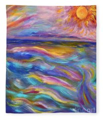 A Peaceful Mind - Abstract Painting Fleece Blanket