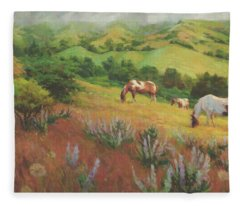 A Peaceful Nibble Fleece Blanket
