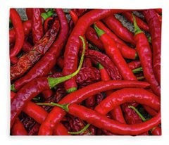 A Peck Of Unpickled Peppers Fleece Blanket
