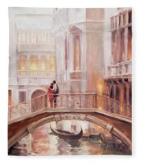A Perfect Afternoon In Venice Fleece Blanket