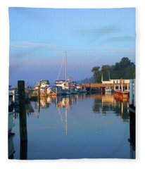 A Perfect Tawas Morning Fleece Blanket
