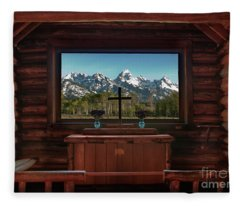 A Pew With A View Fleece Blanket