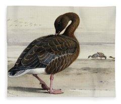 A Pink Footed Goose Fleece Blanket