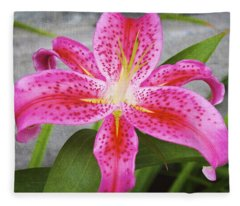 A Pink So Vivid I Can Almost Taste It Fleece Blanket