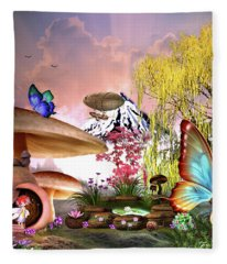 A Pixie Garden Fleece Blanket