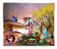 A Pixie Garden Fleece Blanket