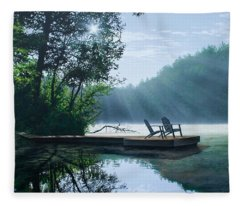 A Place To Ponder Fleece Blanket