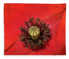 A Poppy's Centre Fleece Blanket