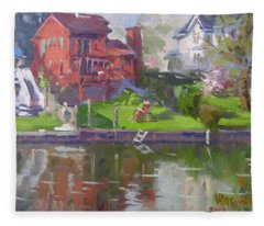 A Quiet Afternoon By The Canal Fleece Blanket