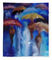 A Rainy Day In Paris Fleece Blanket