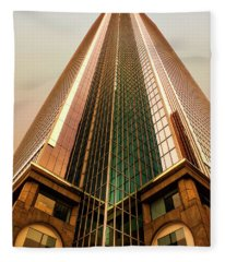 A Really Tall Building Fleece Blanket
