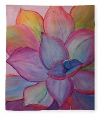 Fleece Blanket featuring the painting A Reason For Being by Sandi Whetzel