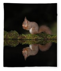 A Red Reflection Fleece Blanket