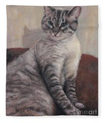 A Regal Pose Fleece Blanket