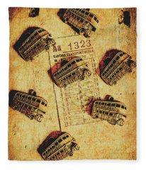 A Return To Old London Fleece Blanket