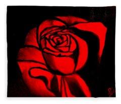 A Rose For Delilah  Fleece Blanket