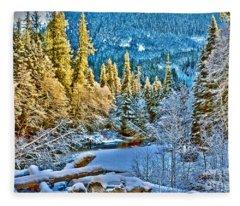 A River Runs Down It Fleece Blanket