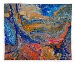 A River Runs Through It Fleece Blanket