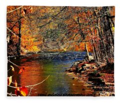 A River Runs Through It Fleece Blanket