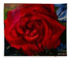 A  Rose Is Fleece Blanket