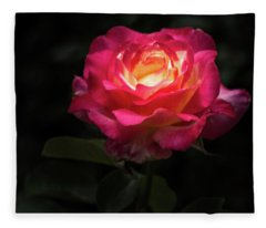 A Rose For Love Fleece Blanket