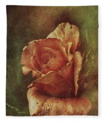 A Rose From Long Ago Fleece Blanket