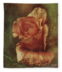 A Rose From Long Ago Fleece Blanket