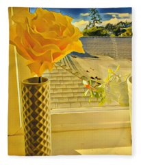 A Rose Is A Rose Electric Fleece Blanket