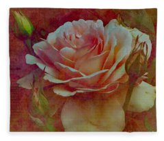 A Rose  Fleece Blanket