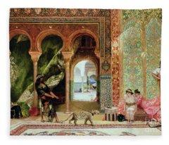 A Royal Palace In Morocco Fleece Blanket