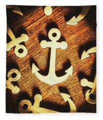 A Sailors Badge Fleece Blanket