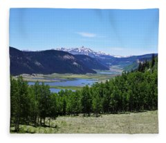 A Scenic View Of The Headwaters Of The Rio Grande River Fleece Blanket
