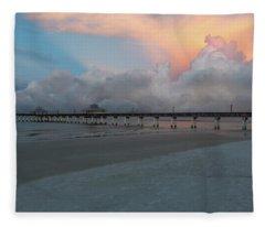 A Serene Morning Fleece Blanket