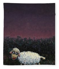 A Sheep In The Dark Fleece Blanket