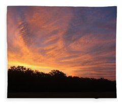 A Sky On Fire Fleece Blanket