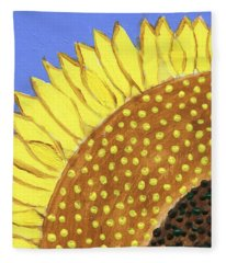 A Slice Of Sunflower Fleece Blanket