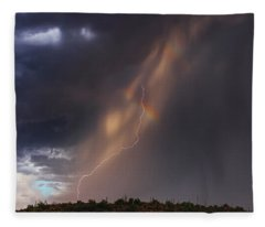 Fleece Blanket featuring the photograph A Sliver Of Color by Rick Furmanek