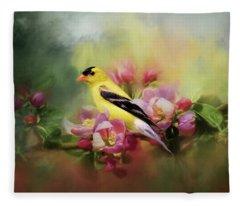 A Splash Of Joy Bird Art Fleece Blanket