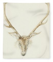 A Stag Shot By John Brown Fleece Blanket