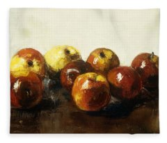 A Still Life Of Apples Fleece Blanket