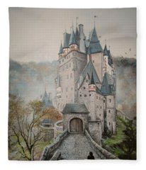 A Story At Eltz Castle Fleece Blanket