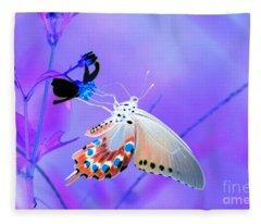 A Strange Butterfly Dream Fleece Blanket