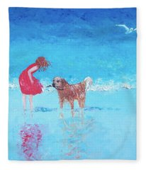 A Summer Breeze Fleece Blanket