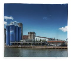 A Summer Day At Riverworks Fleece Blanket