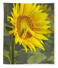 A Sunflower's Prayer Fleece Blanket