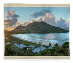 A Sunset On Bay Fleece Blanket